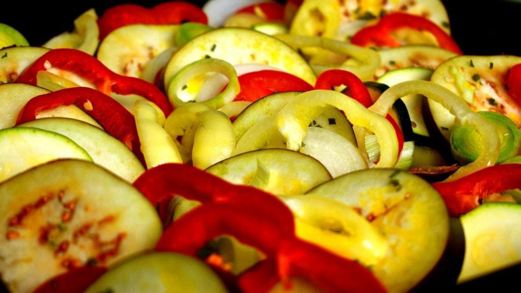 légumes fondants plancha
